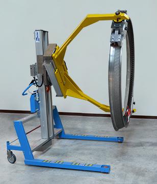 Chariot avec pince pneumatique pour charge lourde