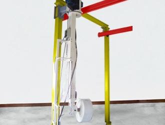 Colonne télescopique avec guidon ergonomique