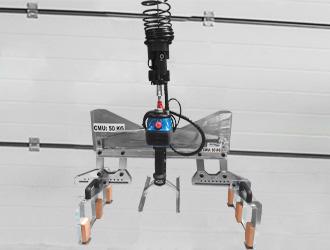 Pince pantographe sur-mesure sous équilibreur In-Lift®