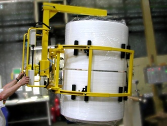 Pinces pour préhension de bobines et cylindres