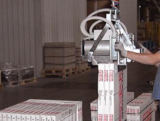 Pince pneumatique pour paquets de carrelages