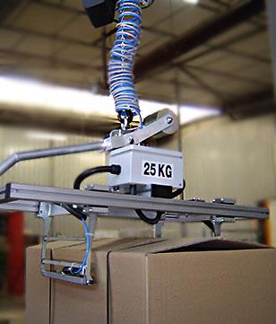 Manipulateur à ventouses avec prise par dessus pour carton