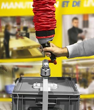 Préhenseur TP avec ventouse pour manutention de caisse