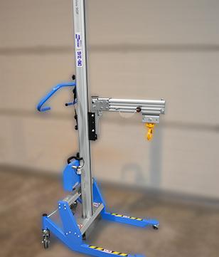 Chariot de manutention avec potence et crochet