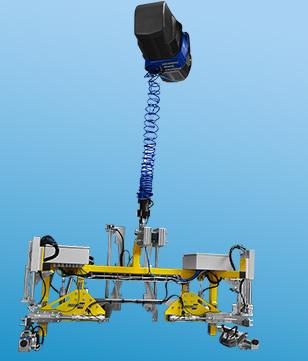 IN-LIFT® équipé d'un préhenseur spécifique à serrage pneumatique