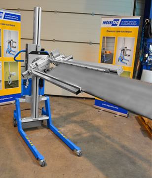 Chariot spécifique pour manutention de planches
